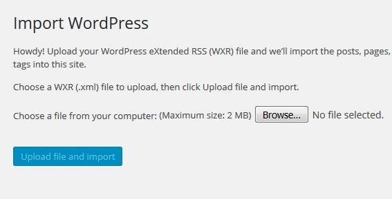 Cara Menambahkan Limit Upload Imprort File di WordPress