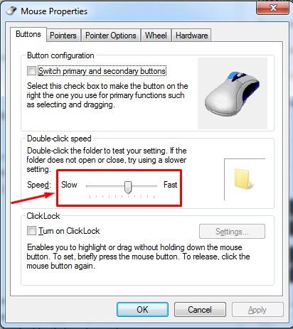 setting mouse, cara setting mouse, cara setting double klik mouse