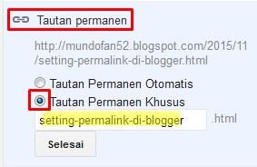 permalink di blogger, setting permalink di blogger, cara setting permalink di blogger